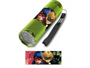 Dětská hliníková LED baterka Kouzelná beruška zelená