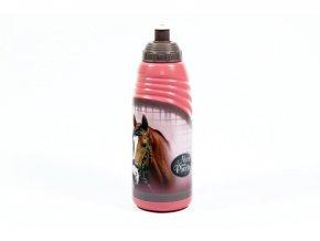 BENIAMIN Láhev na pití Nice and Pretty Kůň Plast, výška 19 cm, průměr 6,5cm, objem 470 ml