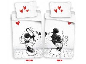 JERRY FABRICS Povlečení Mickey a Minnie láska 02 Bavlna, 140/200, 70/90 cm - skladem
