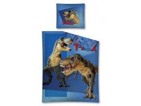 Povlečení Tyranosaurus Rex modrá 140/200