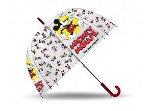 EUROSWAN Průhledný deštník Mickey klasik POE, průměr 70 cm