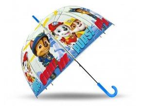 EUROSWAN Průhledný deštník Paw Patrol blue POE, průměr 70 cm