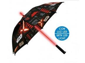 EUROSWAN Deštník s LED osvětlením Star Wars Polyester, průměr 85 cm