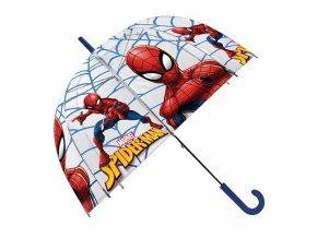 EUROSWAN Průhledný deštník Spiderman POE, průměr 70 cm