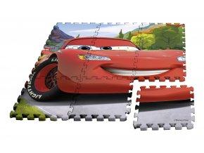 EUROSWAN Podlahové pěnové puzzle Cars  Eva, 9 dílu