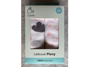 PREM Dětské látkové pleny v dárkové krabičce pro holčičku Bavlna, 70/70 cm