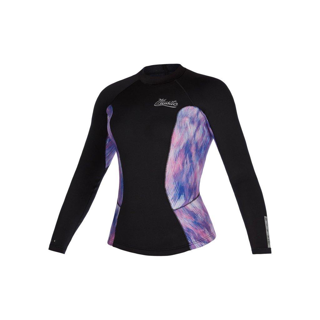 Neoprénové tričko Diva L/S Vest 2mm Women, Black/Purple