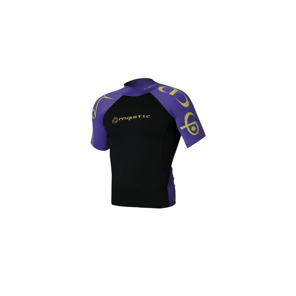 Lykra Crossfire Rash Vest S/S, Purple/Yellow