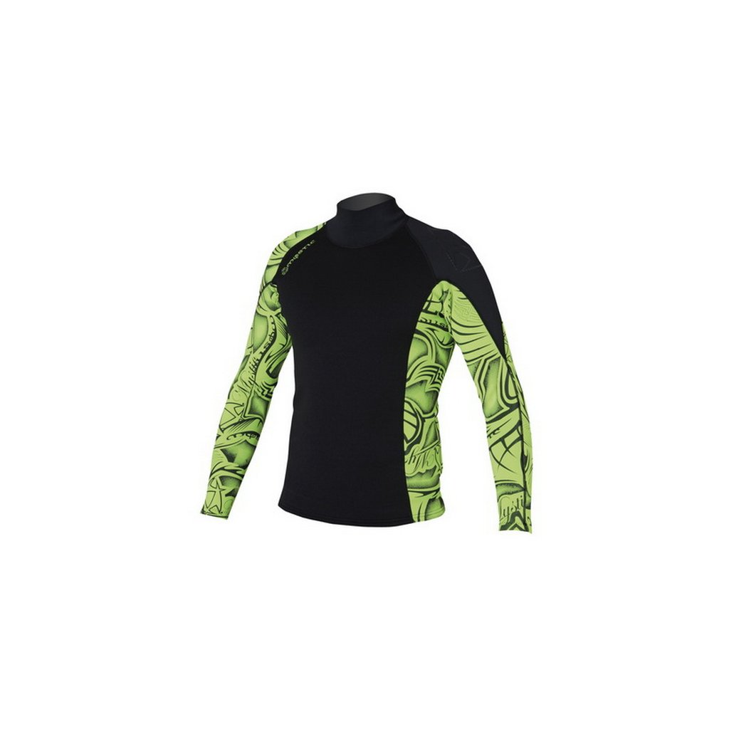 Neoprénové tričko Empire Vest L/S Men, Black/Green