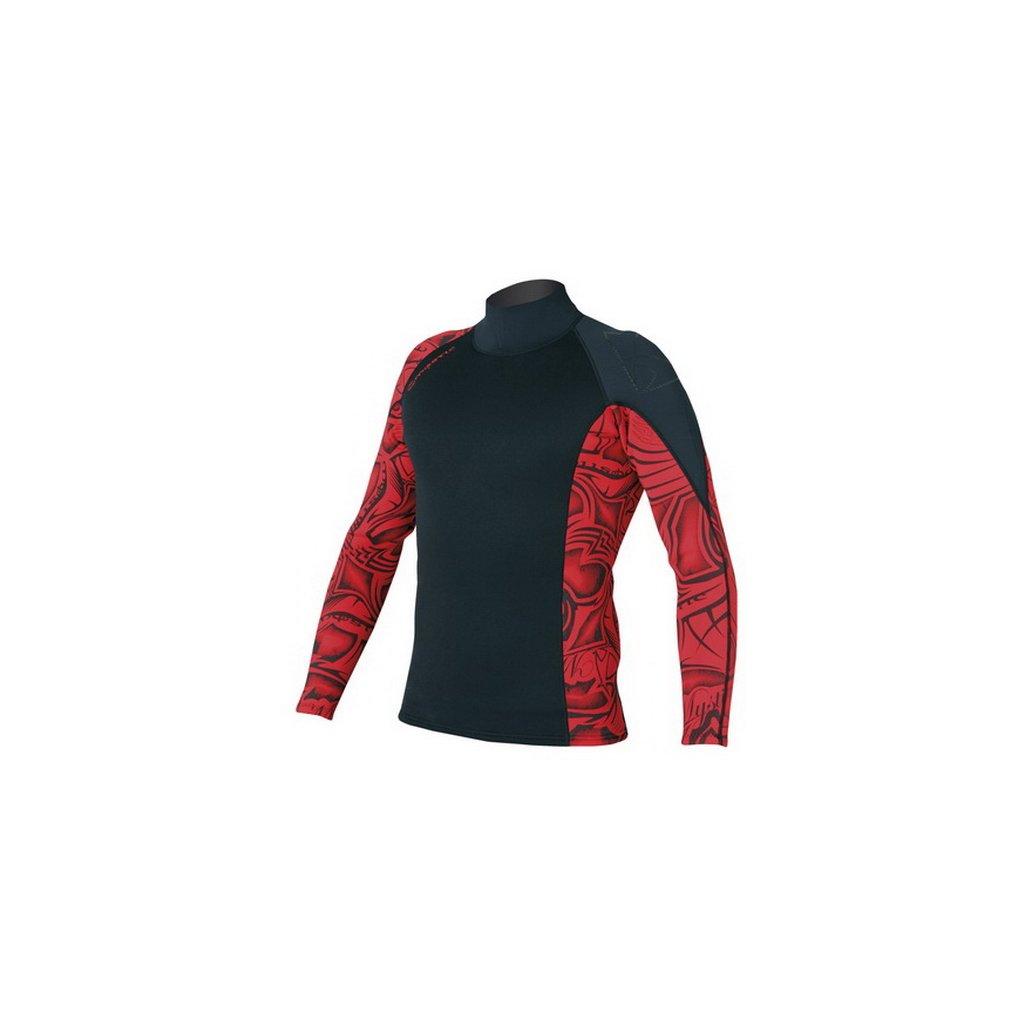 Neoprénové tričko Empire Vest L/S Men, Black/Red