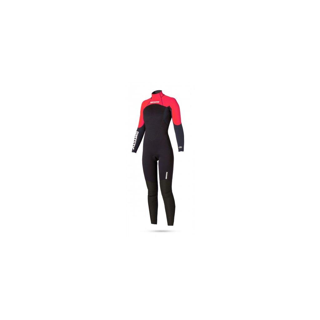 Neoprén Star Rental 5/4 Fullsuit Women, Red