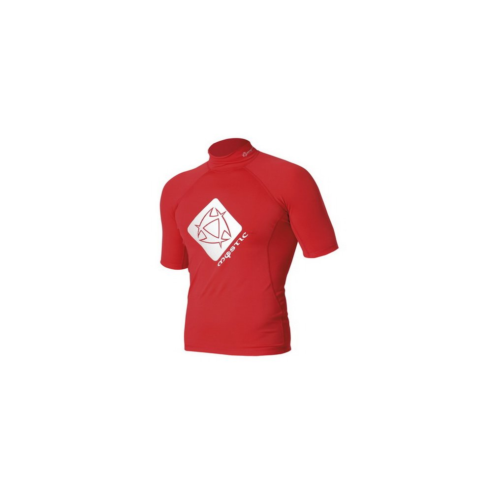 Lykra Star Rash Vest Junior S/S, Red