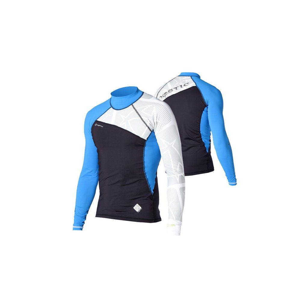 Lykra Crossfire Rash Vest L/S, Blue