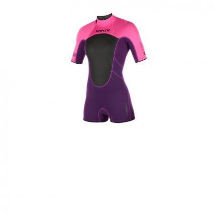 Neoprén Brand Shorty 3/2 Bzip Flat Wom, Purple