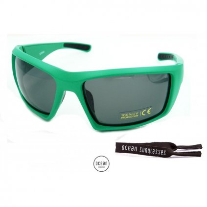 Brýle Ocean Aruba, Shiny Black + Blue Revo