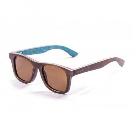 Brýle Azores, Wood Ebony + Smoked Lens