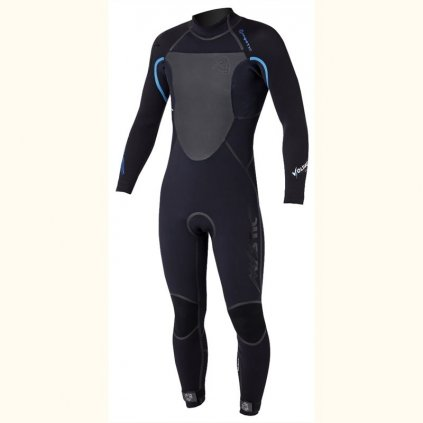 Neoprén Voltage 5/4 Fullsuit, Black/Blue