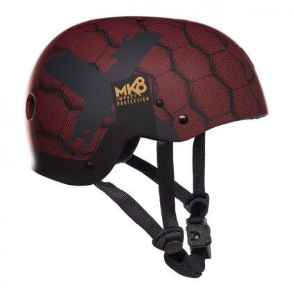 Helma MK8 X (bez chráničů uší), Dark Red