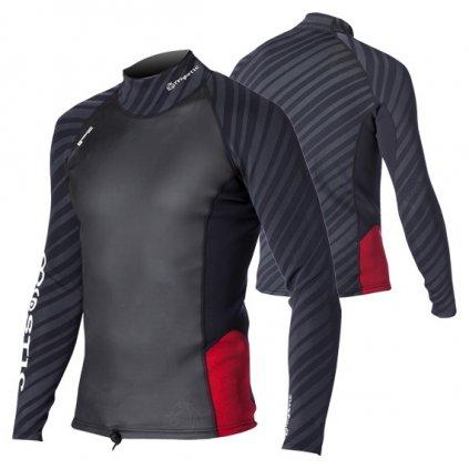 Neoprenové tričko Gust Vest L/S Men, Black/Red