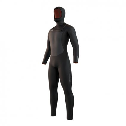 Pánský neoprén Voltt Hooded Fullsuit 6/4/3mm Fzip, Black