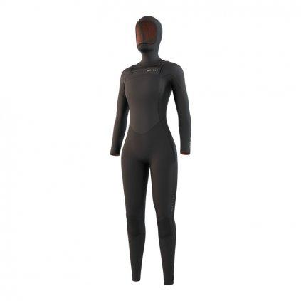 Dámský neoprén Gem Hooded Fullsuit 6/4/3mm Fzip Women, Black
