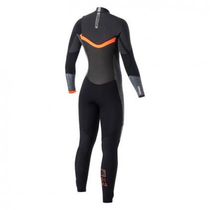 Neoprén Diva 3/2 Fullsuit Women Frontzip, Black