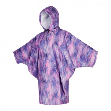 Poncho Women, Black/Purple