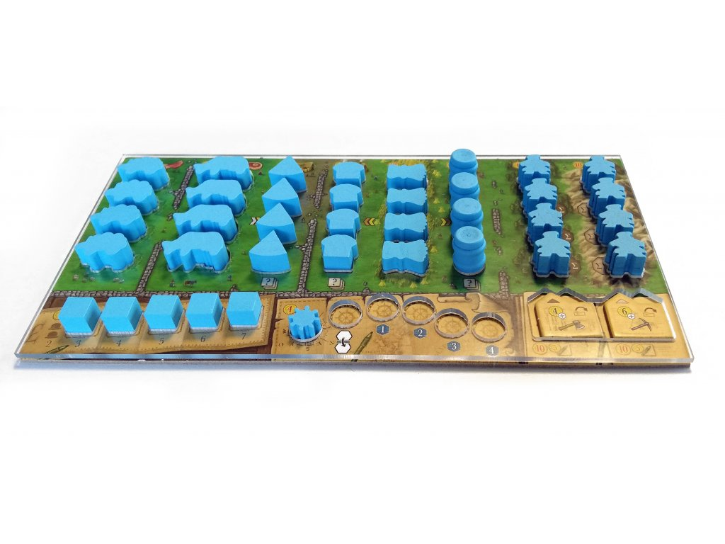 TLAMA games Clans of Caledonia overlay (polykarbonát 2mm)