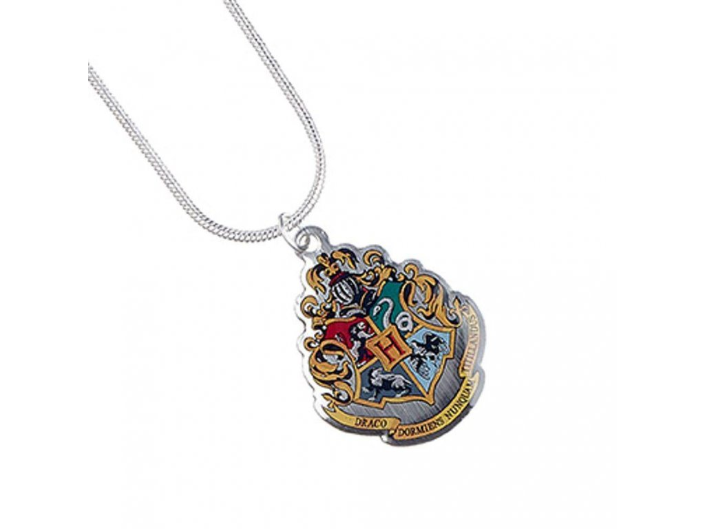 Harry Potter Pendant & Necklace Hogwarts (silver plated)