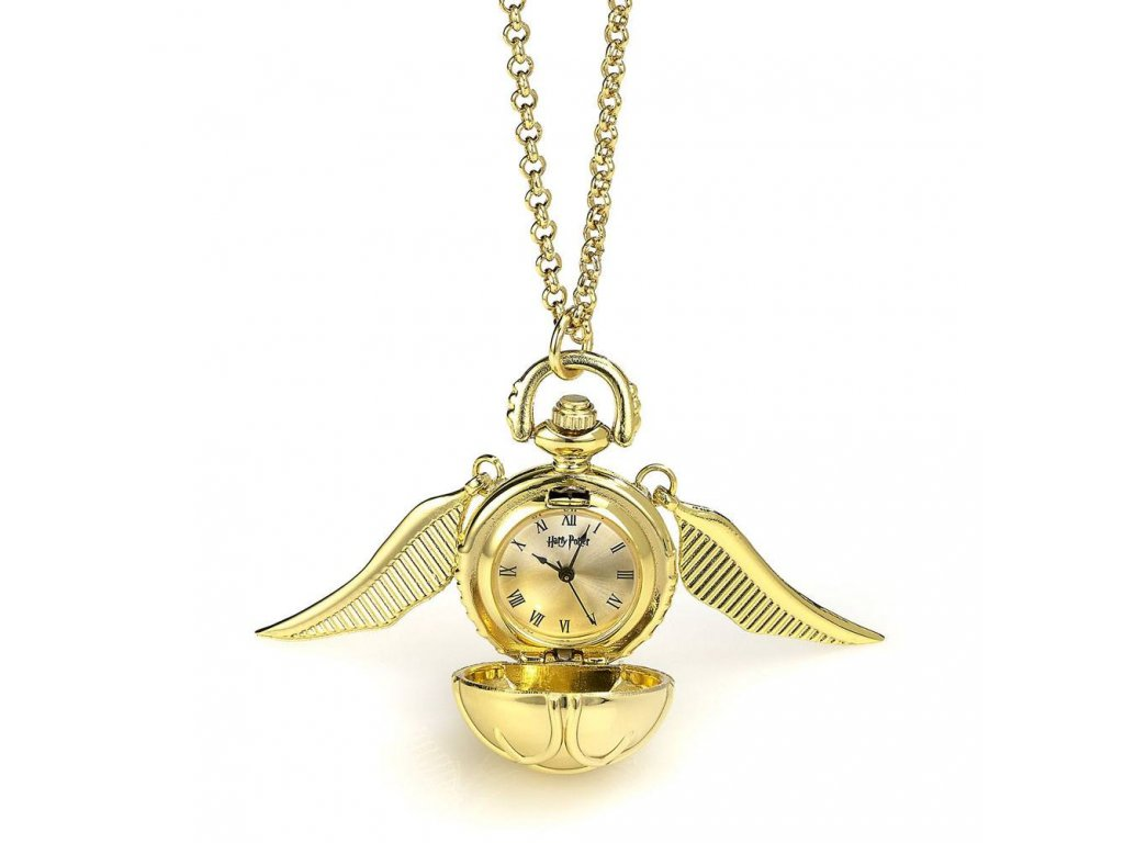 Harry Potter Watch Necklace Golden Snitch (gold plated)
