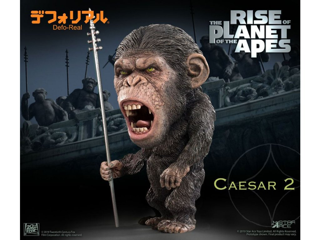 Rise of the Planet of the Apes Deform Real Series Soft Vinyl Statue Caesar Spear Ver. 15 cm