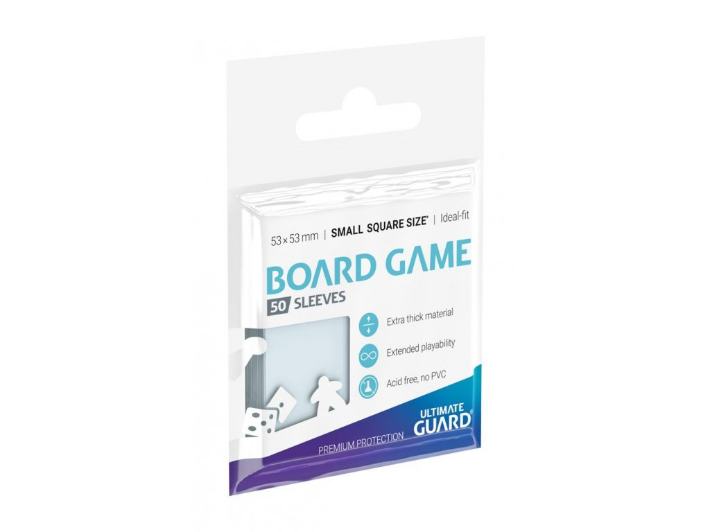 Ultimate Guard Premium Sleeves for Board Game Cards Small Square (50)