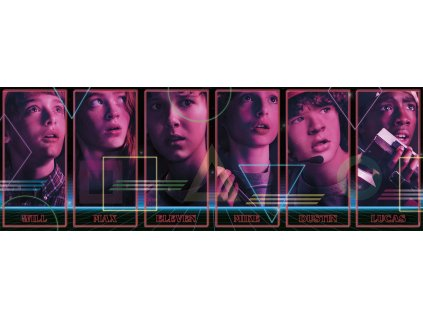 Stranger Things Panorama Puzzle Characters --- DAMAGED PACKAGING