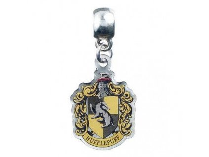 Harry Potter Charm Hufflepuff Crest (silver plated)
