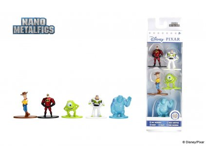 Disney Nano Metalfigs Diecast Mini Figures 5-Pack Disney Pixar 4 cm