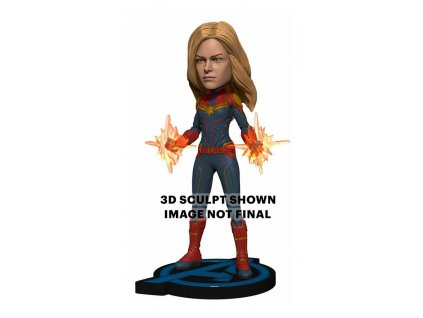 Avengers: Endgame Head Knocker Bobble-Head Captain Marvel 20 cm