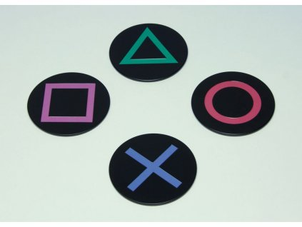 PlayStation Coaster 4-Pack Icons
