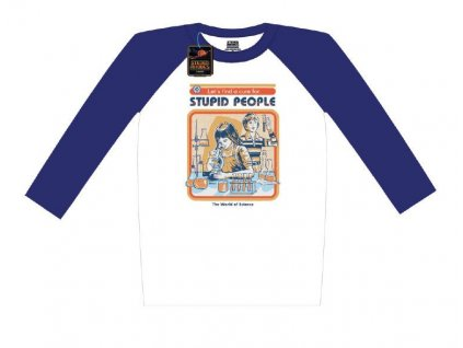 Steven Rhodes Raglan Baseball Long Sleeve Shirt Let's Find A Cure For Stupid People Size S