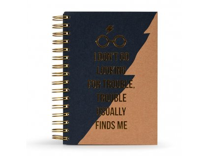 Harry Potter Premium Notebook A5 Trouble Usually Finds Me