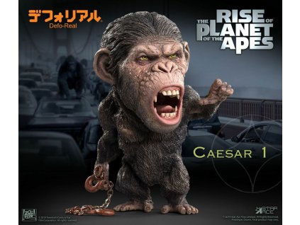 Rise of the Planet of the Apes Deform Real Series Soft Vinyl Statue Caesar Chain Ver. 15 cm
