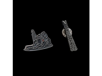 Lord of the Rings Collectors Pins 2-Pack Helm's Deep & Orthanc