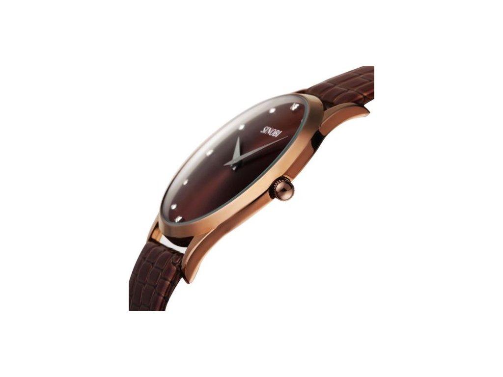 Sinobi pánske náramkové hodinky hnedé 8173ef5a04