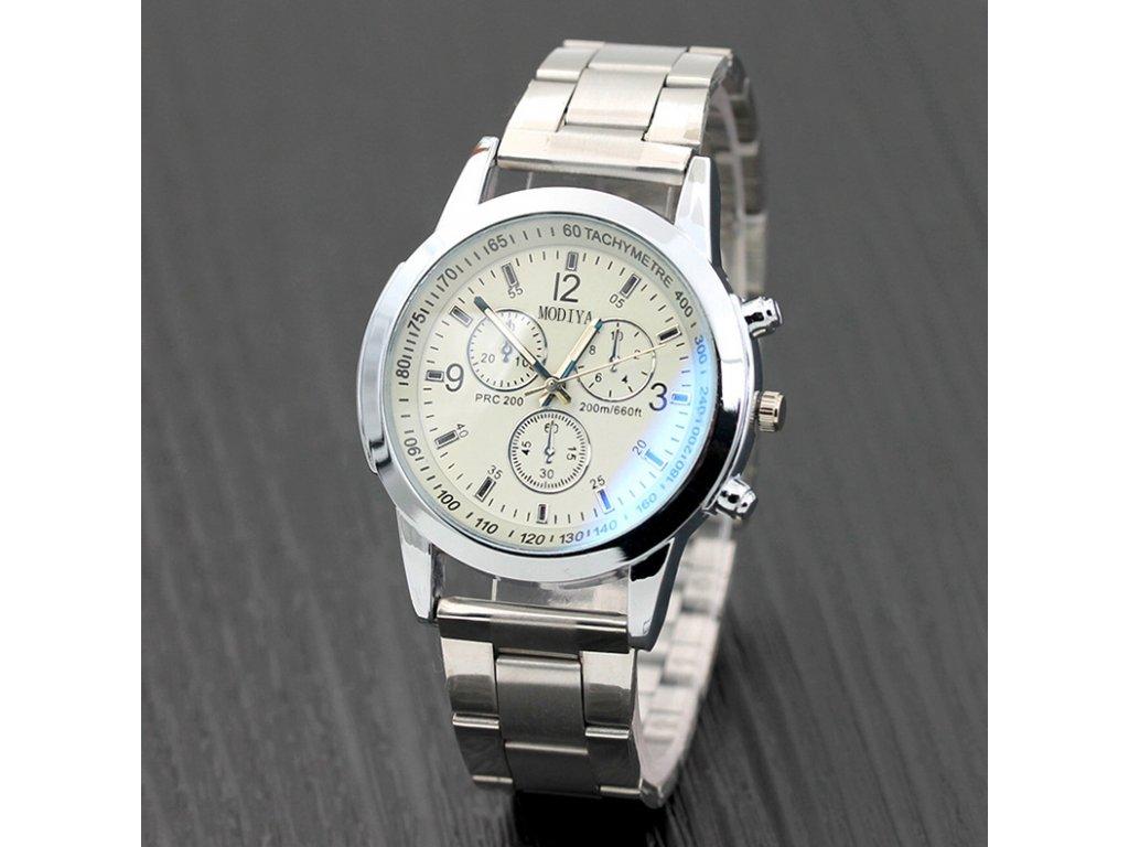 Modiya pánske náramkové hodinky biele abef39e550e