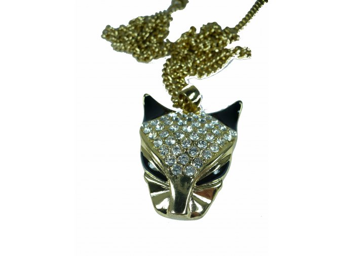 Mačka náhrdelník postriebrený