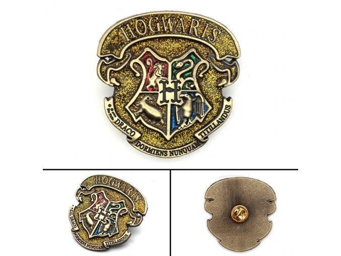 Harri Potter Hogwarts School Gryffindor Slytherin Ravenclaw Hufflepuff Symbol Metal Badge Pin Brooch Chest Button Ornament.jpg q50