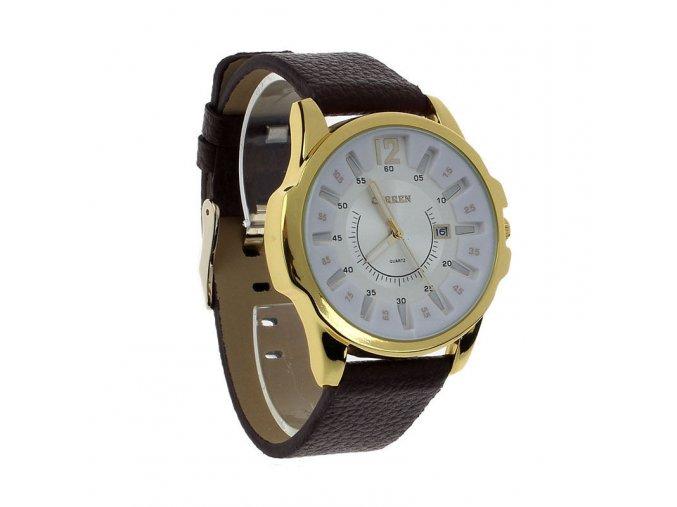 Curren pánske hodinky hmavohnedé