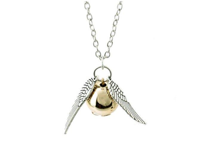 Harry Potter - Zlatá strela kovový náhrdelník strieborný