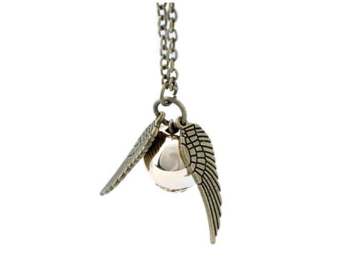 Harry Potter -Zlatá strela kovový náhrdelník bronz