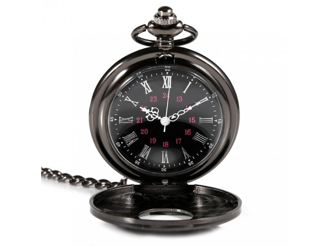 Vreckové hodinky-čierne