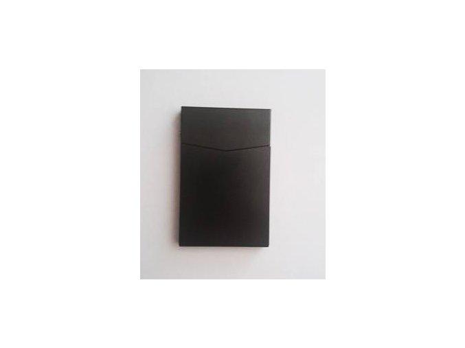 Kovový obal na vizitky čierny
